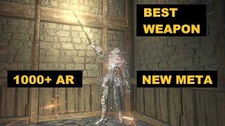 DARK SOULS 3: NEW META! SUNLIGHT STRAIGHT SWORD 1000+AR DAMAGE (BEST WEAPON)
