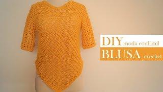 Blusa Suéter tejido a crochet fácil paso a paso