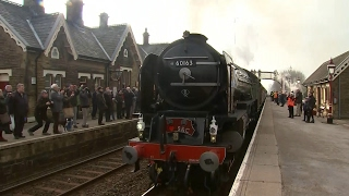 Steam locomotive in first main line journey for 50 years
