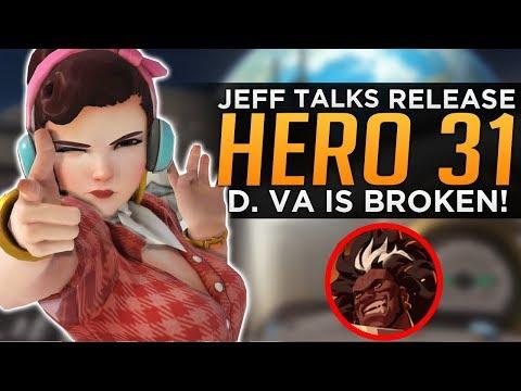 Overwatch: Jeff Talks Hero 31 Release! - D.Va is BROKEN!