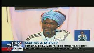 Kibera: Fashion designer sews face masks for free distribution to the poor
