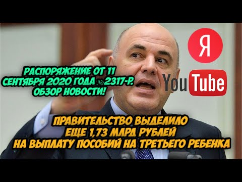 Правительство выделило 1,73 млрд рублей на выплату пособий на третьего ребёнка». Обзор распоряжения.