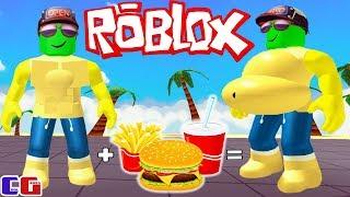 Я НАЧИНАЮ ТОЛСТЕТЬ! СИМУЛЯТОР ТОЛСТЯКА в Roblox Мультяшная игра для детей EATING SIMULATOR