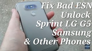 Unlock a Sprint & Bad ESN LG G5 & others for GSM
