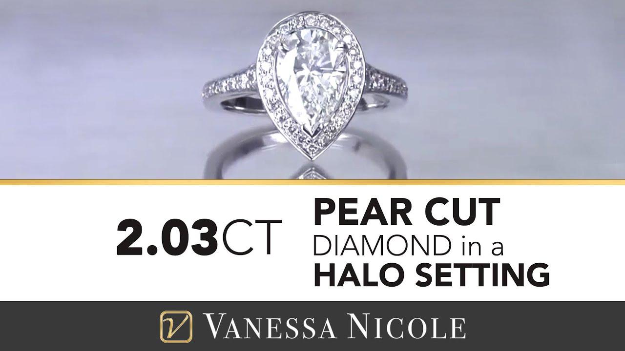 2.03ct Pear Cut Diamond Ring