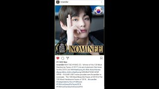 BTS Rank - Vote for 100 most handsome faces 2018 by TC Candler as of October 19, 2018