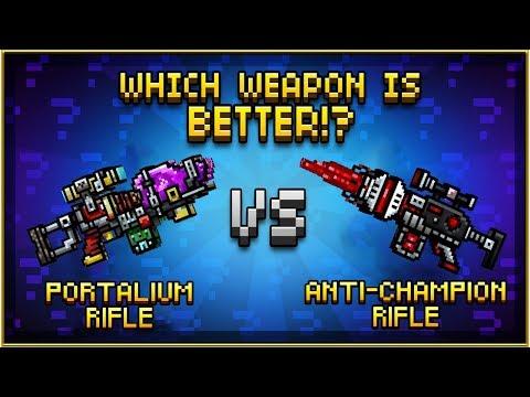 Portalium Rifle VS Anti-Champion Rifle - Pixel Gun 3D
