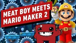 Super Mario Maker 2 Meets Super Meat Boy Forever in This Tough as Nails Level