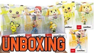 Super Smash Bros.Series Amiibo Pichu / Pokemon Trainer / Isabelle(Switch) Unboxing!!
