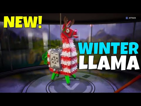 New Winter Llama Opening Frostnite Event Heroes Weapons