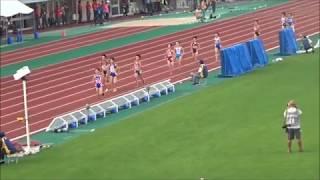 えひめ国体・陸上競技/少年女子共通1500m決勝、1着:金光由樹(岡山)4分19秒60