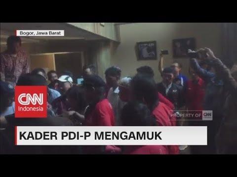 Sindir Megawati, Kantor Koran Radar Bogor Diamuk Puluhan Kader PDIP
