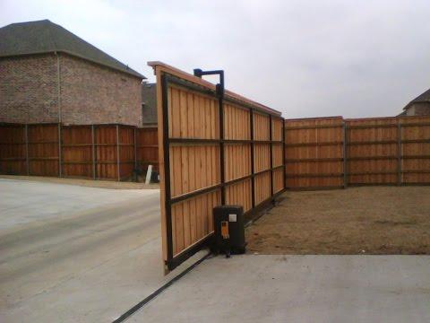 Сдвижные автоматические ворота. Стильные и функциональные ворота!