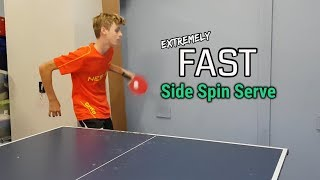 FAST Side Spin Serve Tutorial - Unbeatable!