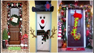 Christmas Door Decoration  - 30 Ideas Para Decorar Tu Puerta En Navidad