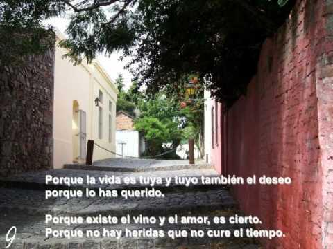 Poema NO TE RINDAS, declamado por nuestro director, René Figueroa