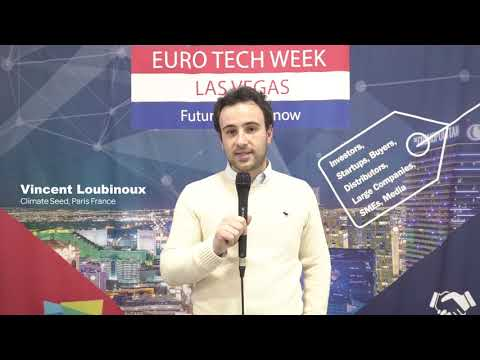 ClimateSeed exhibiting at the Euro Tech Week (CES 2019)