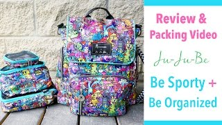 Review & Packing Video: Ju-Ju-Be Be Sporty in tokidoki Kaiju City Packed + Be Organized!