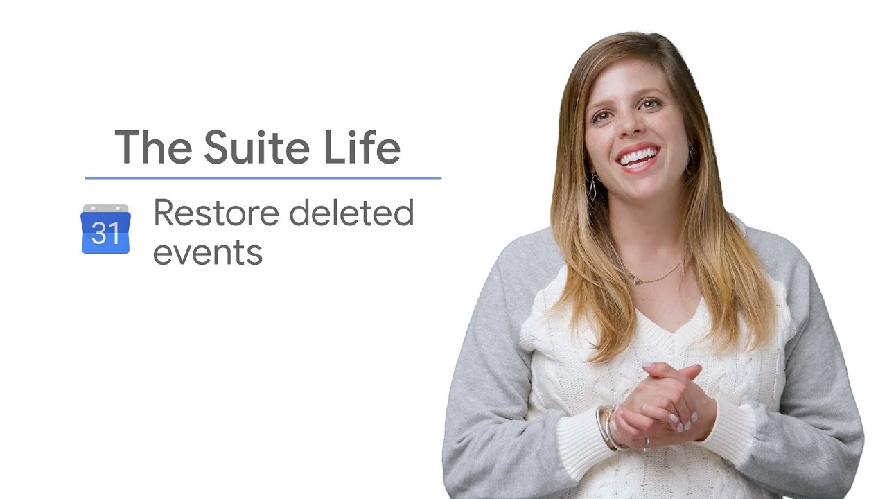 On this episode of The Suite Life, Laura Mae Martin explains how to restore your deleted events on Google Calendar.