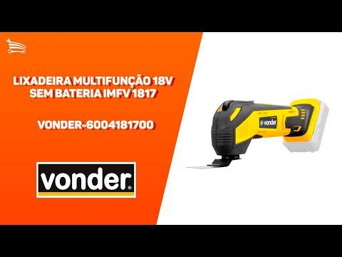 Lixadeira Multifunção 18V sem Bateria - Video