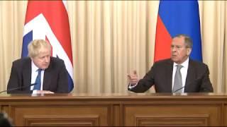 Пресс-конференция С.Лаврова и Б.Джонсона