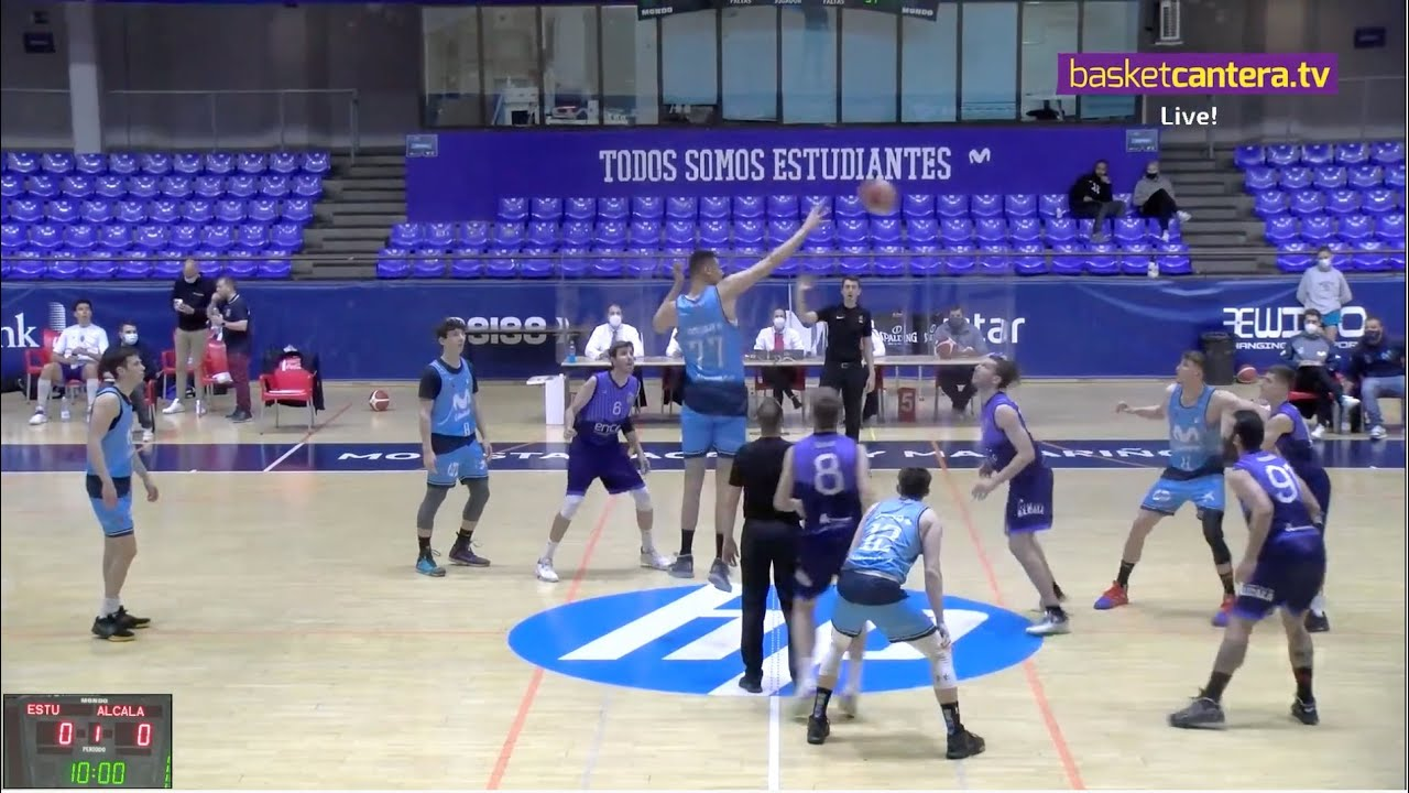EBA - MOVISTAR ESTUDIANTES vs CB ALCALÁ.- Liga EBA. Fase de ascenso (26/4/21) #BasketCantera.TV