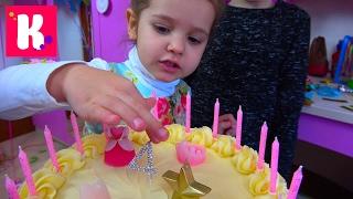 День рождения Кати 4 года Шоколадные туфли Лабутэны / Шикарная машина Порше / Мир Сильваниан Фэмилис