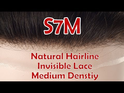 S7M Stock Medium Density Lace Hair System