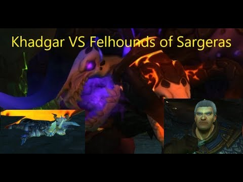 From the MMOWTF Files: Khadgar Solos Felhounds of Sargeras