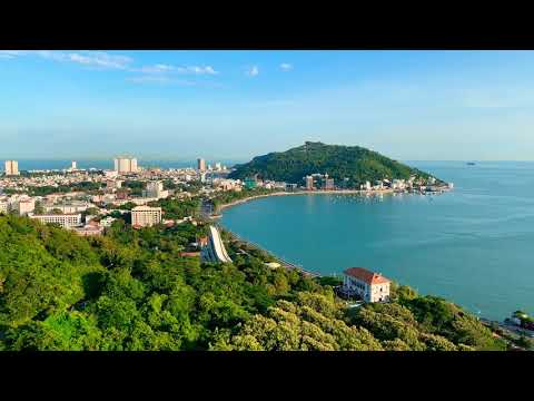 Beautiful Vung Tau City from Cable Car - Ho May Park Vung Tau