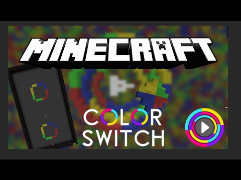 Color Switch Mobile Game Recreated In Minecraft Minecraft Project