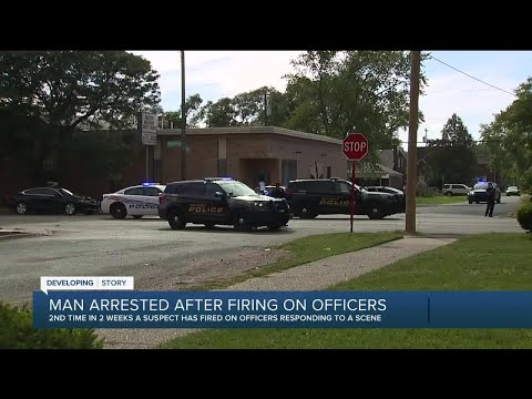 Man arrested after firing at officers