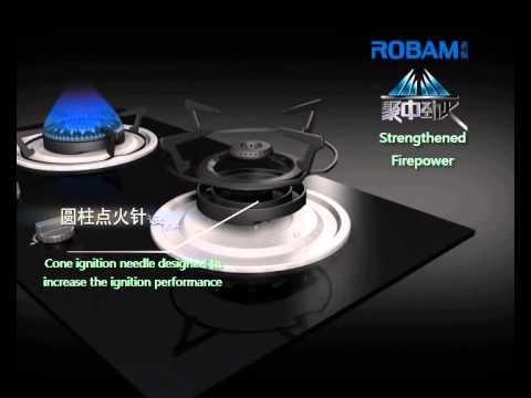 ROBAM B920 Burners Glass Hob