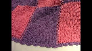 Tutorial knitting blanket circular knittingmachine/deken breien rondbreimolen Part 1