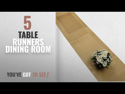 Best Table Runners Dining Room [2018]: Compatible Placemats table runner,U'Artlines 1 Piece Gold