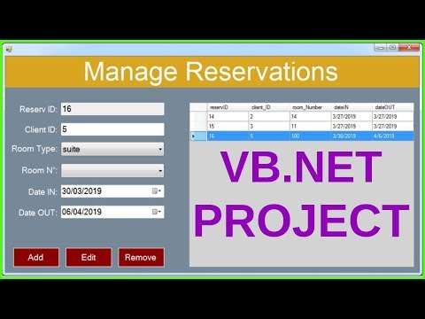 VB.Net Project Tutorial for Beginners - Full VB.Net Programming Project Course [ WITH SOURCE CODE ]