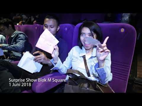Surprise show blok m square xxi dalam rangka 1000 layar