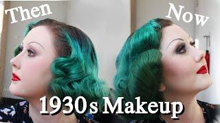 1930s Makeup VS Modern 1930s Makeup