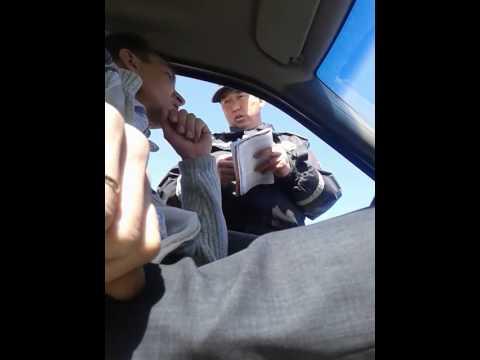 Инспектор дорожной полиции требует страховку