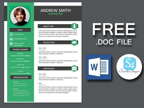 How To Create A Modern Resume With Microsoft Word Sped Up