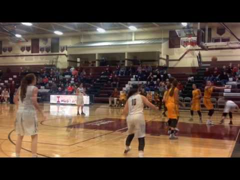 Center Point Urbana @ INDEE girls Mustangs Basketball 1/24/17 in Independence, Iowa