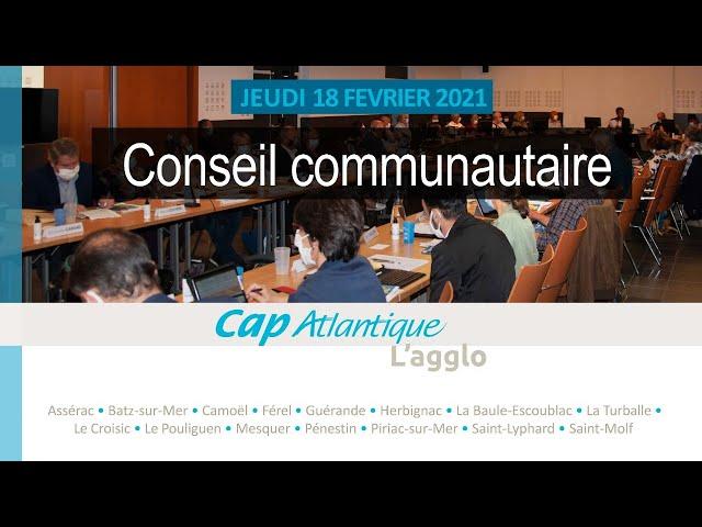 Conseil communautaire du 18 février 2021