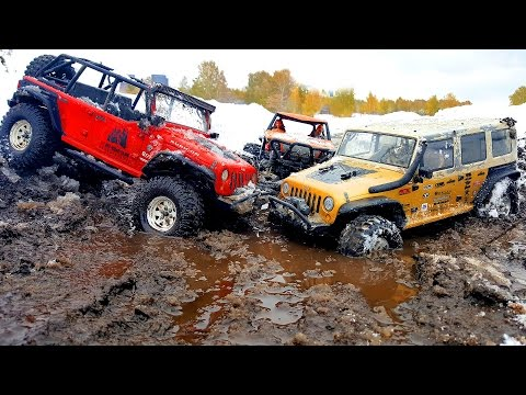 MUD, Snow, Ice Water RC Cars Axial Wraith And Two Axial SCX10 OFF Road 4x4 — RC Extreme Pictures