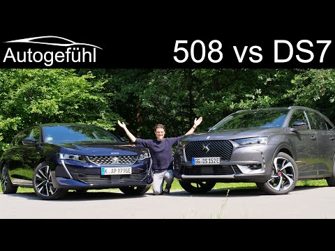 DS7 Crossback 4x4 vs Peugeot 508 SW PHEV comparison REVIEW SUV vs Estate - what's better?