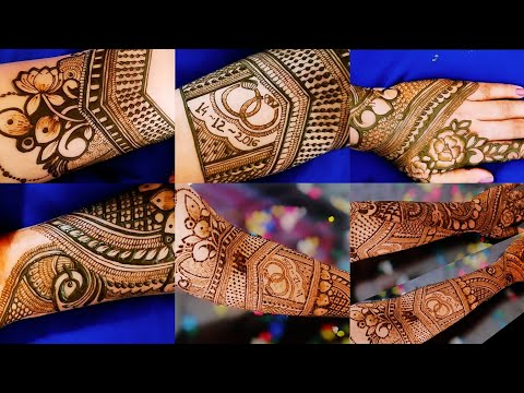 bridal mehndi design full hand front and back by aaru mehndi