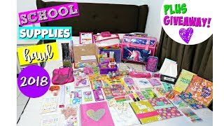 Back to School Supplies Haul 2018 + GIVEAWAY! (Philippines) - Video Youtube