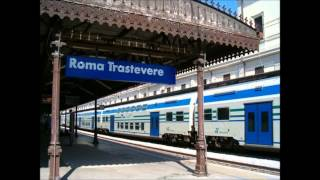 preview picture of video 'Annunci Treni alla Stazione di Roma Trastevere'