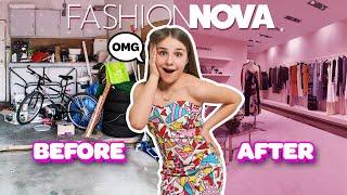 I Turned My Garage Into A $10,000 Fashion Nova DREAM CLOSET **SURPRISE REACTION**💕| Piper Rockelle