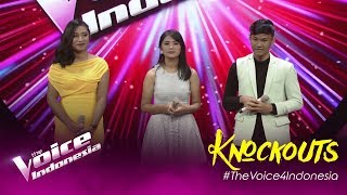 Tesa vs Samuel vs Truly | Knockouts | The Voice Indonesia GTV 2019