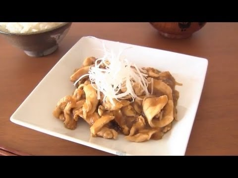 Simmered Chicken in Grated Potato (Recipe) 鶏肉のじゃがいも煮 (レシピ)